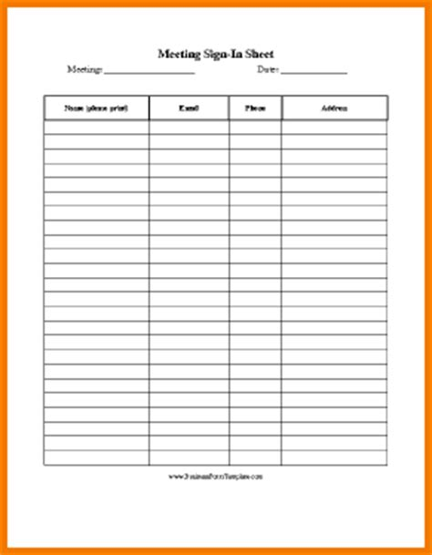 sign up sheet templates authorization letter pdf meeting sign in sheet template authorization letter pdf