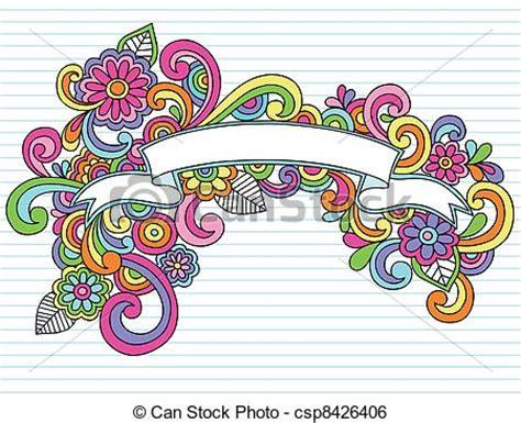 doodle cinta clip de vectores de doodles marco vector bandera