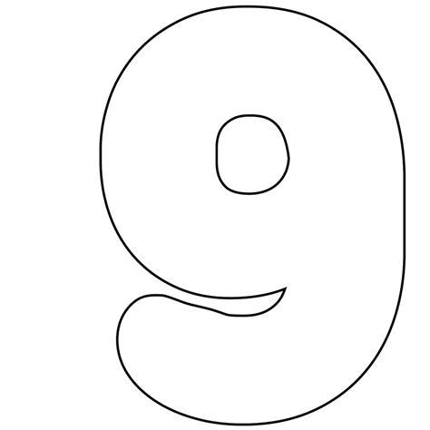 number 9 cake template free printable numbers 0 9