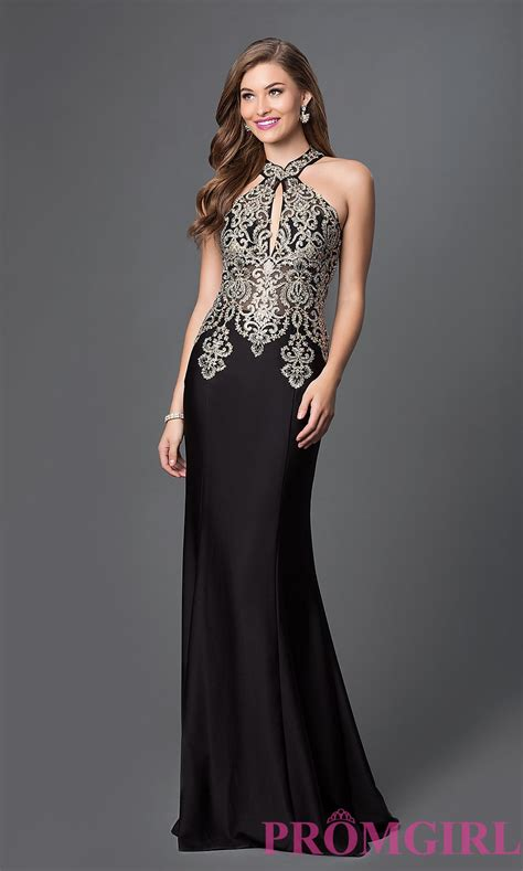 To Be Gown by Lace High Halter Neck Evening Gown Promgirl
