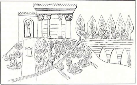 coloring page hanging gardens babylon garden history matters ancient bablyon under threat