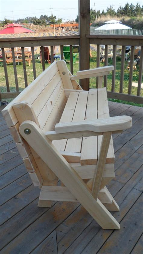 folding bench picnic table combo wood projects