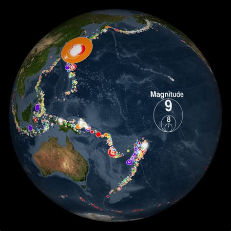 earthquake science earthquakes 2001 2015 dataset science on a sphere