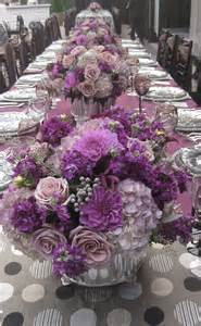 purple violet lilac lavender centerpieces purple