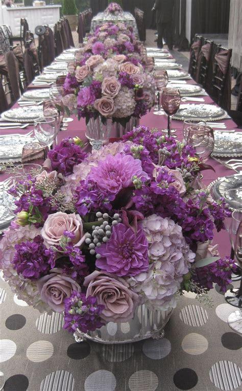 purple violet lilac lavender centerpieces purple