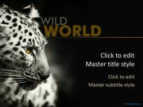 Free Leopard Ppt Template Free Animal Powerpoint Templates