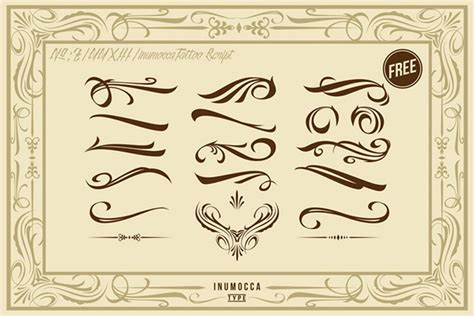 tattoo font with swirls inutattoo sricpt font new release on behance