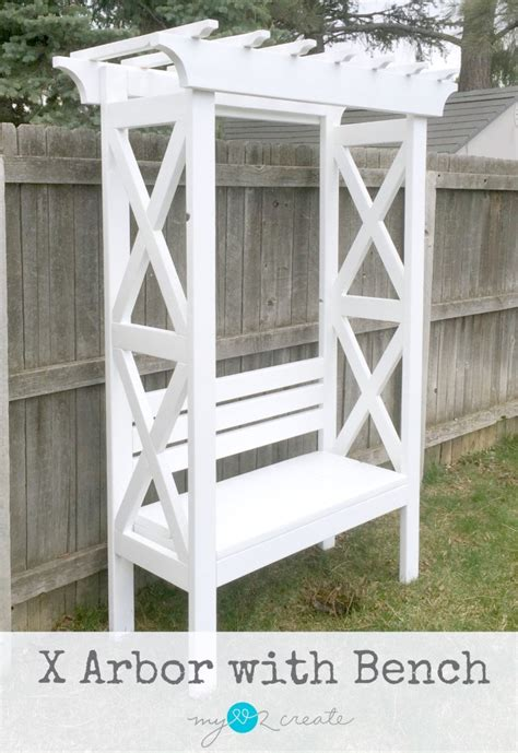 arbour bench x arbor with bench my love 2 create