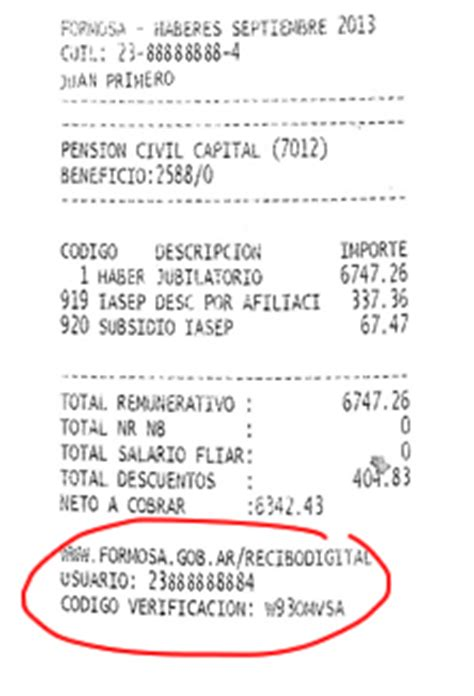 recibo de haberes digital ministerio de gobierno desde www formosa gob ar recibodigital podr 225 acceder a