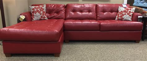 ashley red leather sectional red ashley leather sectional empire furniture rental