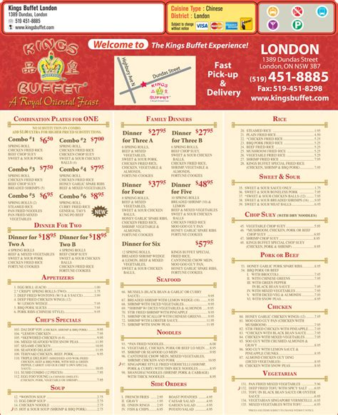 king buffet prices buffet on 1389 dundas st canpages