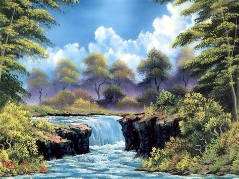 bob ross paints quality paintings bob ross paintings desktop background in