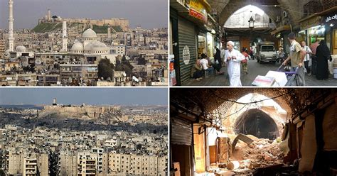 syria before and after aleppo before and after shows scale of devastation of