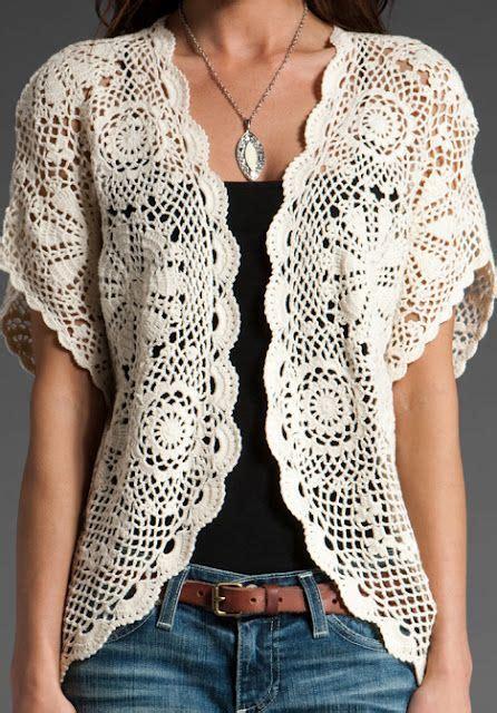 Quero Tunik vestido e blusa rosetas crochet croch 234 blusas e blusas