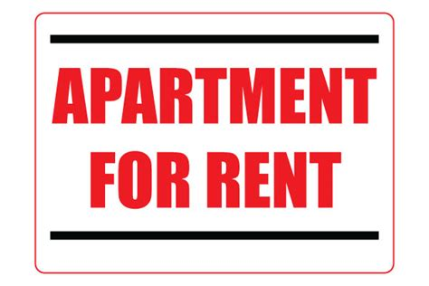 Appartment Rent by Apartment For Rent Sign