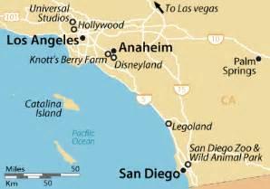 anaheim california on a map los angeles san diego map