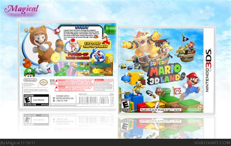 Nintendo 3ds Xl Mario 3d Land Original N3ds mario 3d land nintendo 3ds box cover by magical