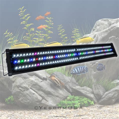 36 aquarium light 24 quot 36 quot 48 quot led aquarium light spectrum multi color