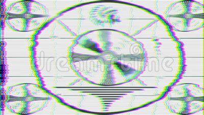 test pattern noise tv test pattern loop stock video video 57659929