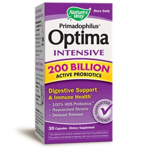 Gratis Ongkir Original Optima Suplemen Multivitamin From Nature S nature s way primadophilus optima intensive 200 billion 30 capsules evitamins