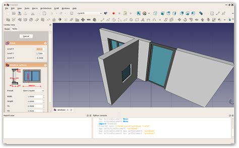 der architektur arbeitsbereich freecad documentation