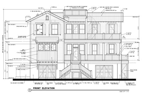 front view elevation of house plans studio design