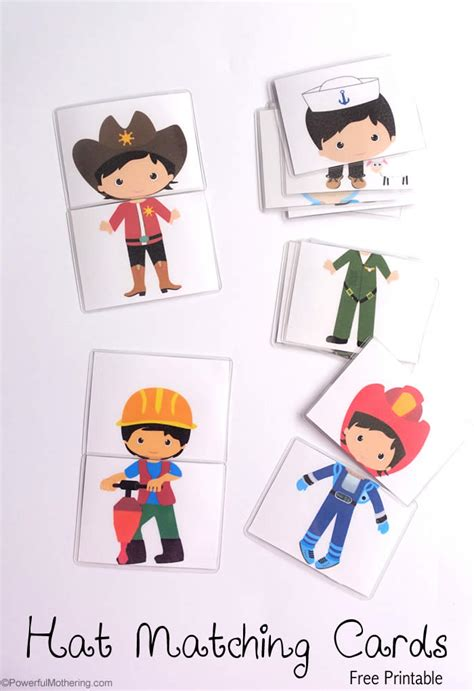 Match Com Gift Card - hat matching printable cards
