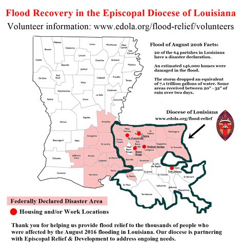 louisiana diocese map disaster response to louisiana flooding episcopal