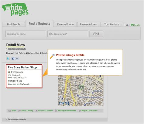 Yahoo White Pages Lookup Yext Powerlistings Whitepages