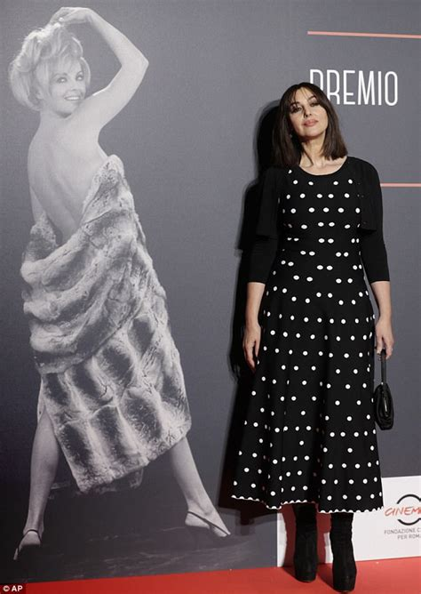 monica bellucci awards monica bellucci awarded at the virna lisi awards in rome