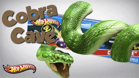 Hotwheels Track Cobra Cave 1 wheels cobra cave gravity track set