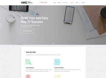 50 Free Bootstrap Responsive Website Templates Ease Template Digital Marketing Responsive Website Template Free