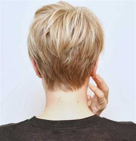 short hairstyle blonde in front black in back short pixie haircuts front and back views short