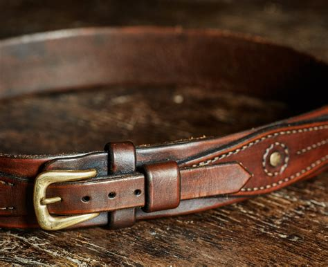 Ranger Belts Handmade - hawkmoth leather co handmade artisan luxury leather