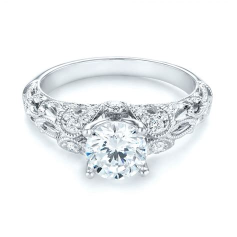 filigree engagement ring 103101