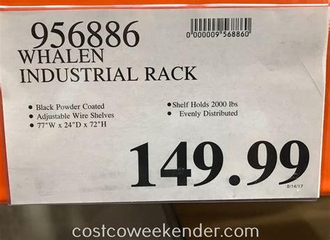 whalen industrial rack costco weekender