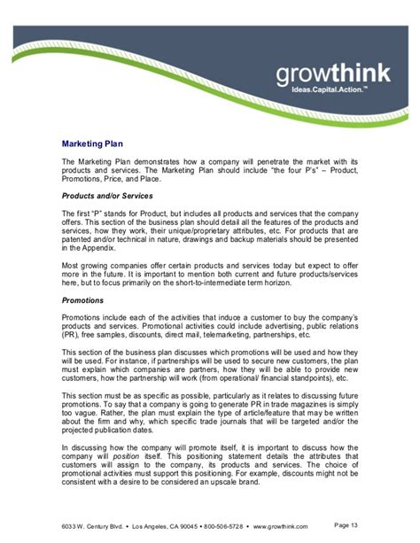 business plan template growthink growthink ultimate business plan template free 28 images