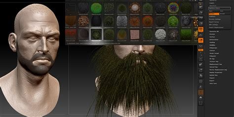 zbrush hair tutorial fibermesh creating facial hair with fibermesh by gavin goulden