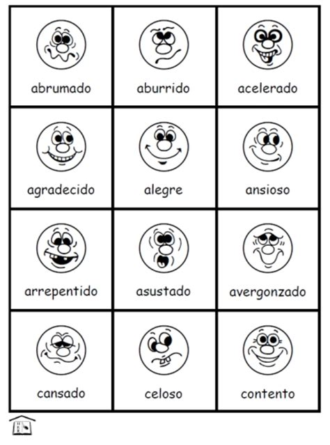 printable emotion faces chart kids feeling faces printable