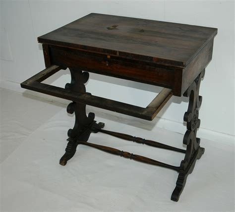early rosewood sewing table height 72 width 70