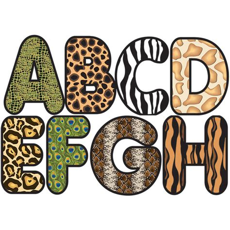 printable safari animal letters animal print letters clip art clipground