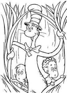 coloring pages of cat and the hat gallery