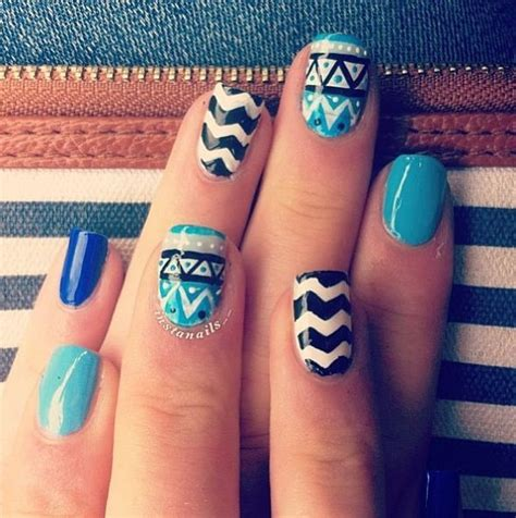 easy pattern for nails tribal pattern nails nail art nail designs