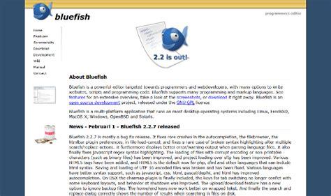 bluefish editor design view 为程序员准备的10个免费的ide和代码编辑器 open资讯