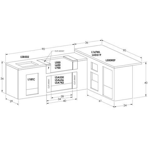 sedona by lynx bbq island with 36 inch propane gas grill sedona by lynx ready to finish bbq island with 36 inch