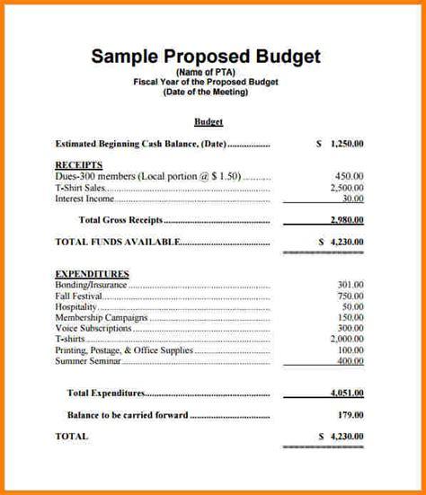 format budget proposal 7 budget proposal format proposal template 2017