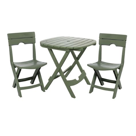 outdoor furniture 3 3 fast fold outdoor furniture bistro set in green fastfurnishings