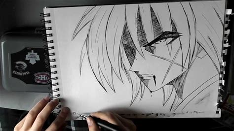 Drawing X by Kenshin How To Draw Kenshin Comment Dessiner Kenshin
