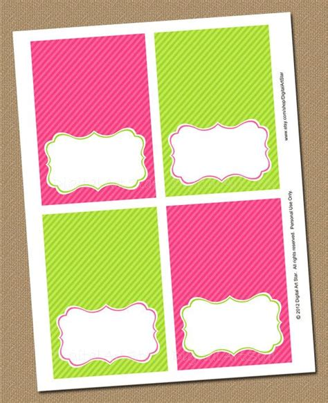 how to make food tent cards pink lime green printable buffet cards editable bridal
