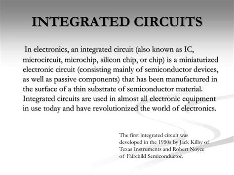 integrated circuit slideshow integrated circuit slideshow 28 images ppt integrated circuit design lecture 8 this lecture
